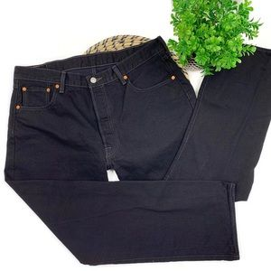 LEVI'S 501 Button Fly Black Jeans